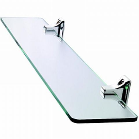 Croydex Sutton Chrome & Glass Shelf